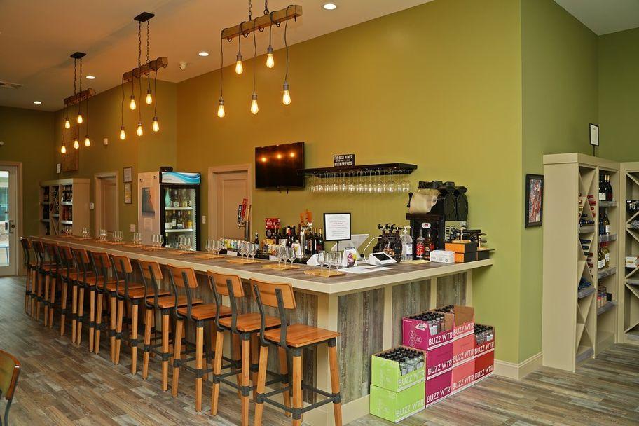 Wine Restaurant's Counter