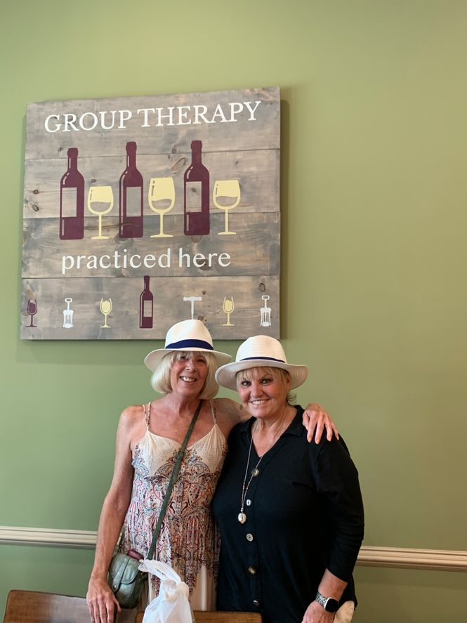 Two Women Participating in Group Therapy