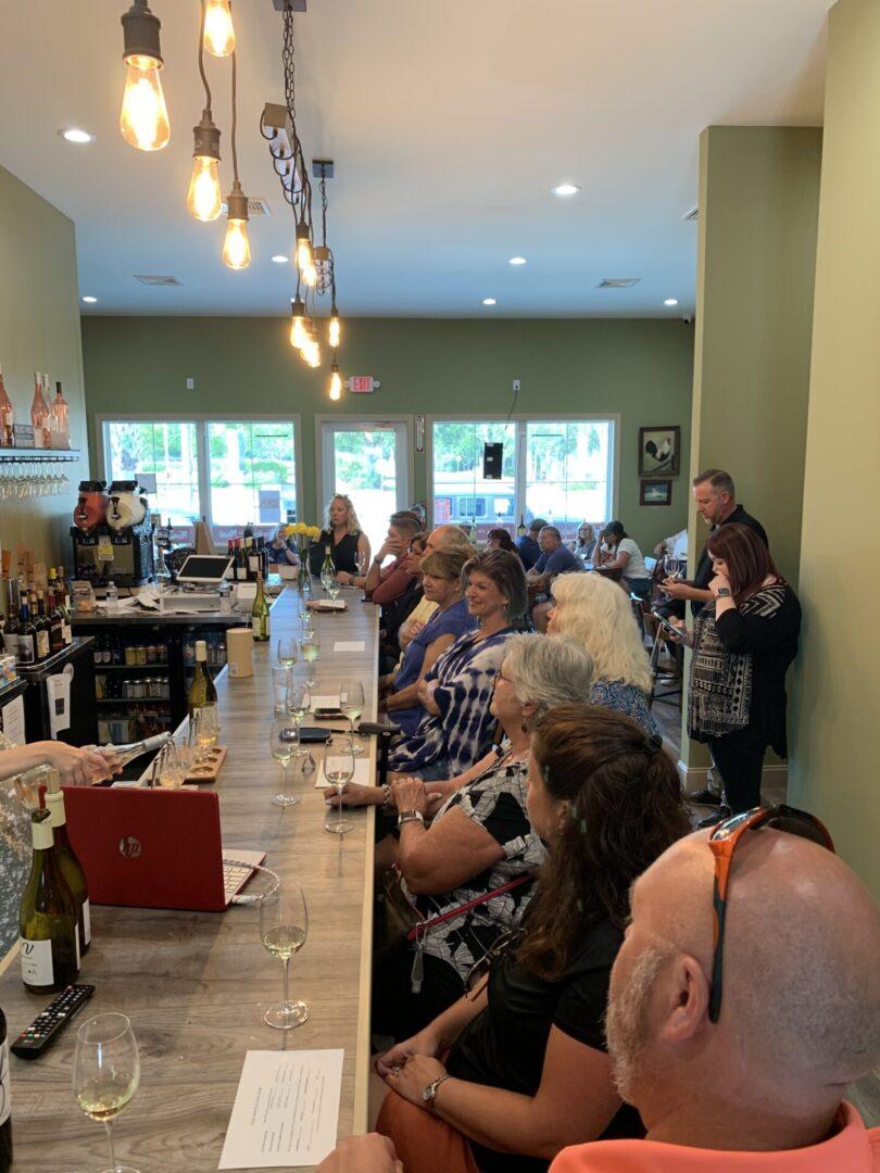 Wine Bar With Customers